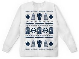 "Свитшот унисекс с полной запечаткой ""Доктор Кто"" - орнамент, doctor who, tardis, доктор кто, time lord"