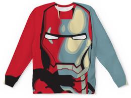 """Свитшот унисекс с полной запечаткой """"IRON MAN"""" - мстители, avengers, железный человек, iron man, фэн-арт"""