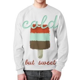 "Свитшот унисекс с полной запечаткой ""Ice-cream "" - мороженое, еда, фраза, рисунок"