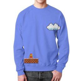 """Свитшот унисекс с полной запечаткой """"Mario"""" - 8 bit, mario, 8 бит, dendy, wax"""