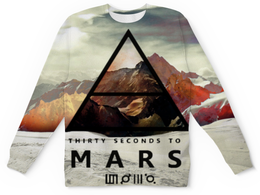 "Свитшот унисекс с полной запечаткой ""30 Seconds to Mars"" - 30 seconds to mars, rock, 30 stm, джаред лето"