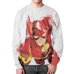 "Свитшот унисекс с полной запечаткой ""Молния (The Flash)"" - молния, флэш"