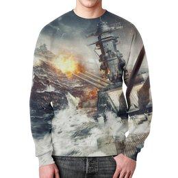 """Свитшот унисекс с полной запечаткой """"Мир Кораблей"""" - world of warships"""