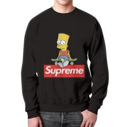 """Свитшот унисекс с полной запечаткой """"Supreme"""" - надписи, мульт, симпсоны, суприм, supreme"""