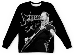 """Свитшот унисекс с полной запечаткой """"Metallica"""" - metallica, металлика, метал, рок, группы"""