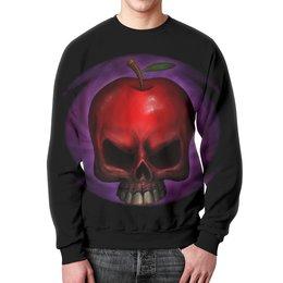 """Свитшот унисекс с полной запечаткой """"Skull Art"""" - skull, череп, яблоко, apple skull, череп яблоко"""