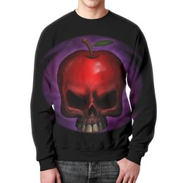 "Свитшот унисекс с полной запечаткой ""Skull Art"" - apple skull, skull, череп, яблоко, череп яблоко"