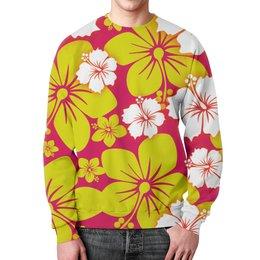 """Свитшот унисекс с полной запечаткой """"Цветочный"""" - цветы, узор, стиль, рисунок, цветочный"""