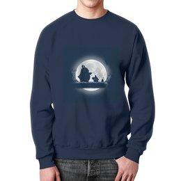 "Свитшот унисекс с полной запечаткой ""Hakuna Totoro"" - фильм, мульт, хакуно тоторо"