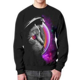 """Свитшот мужской с полной запечаткой """"Кот Космонавт"""" - космос, коты, абстракция, galaxy, космонавт"""