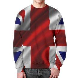 """Свитшот унисекс с полной запечаткой """"Британский Флаг"""" - англия, великобритания, great britain, union jack"""