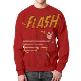 "Свитшот унисекс с полной запечаткой ""Флэш (Flash)"" - flash, флэш, комиксы, dc комиксы, супергерои"