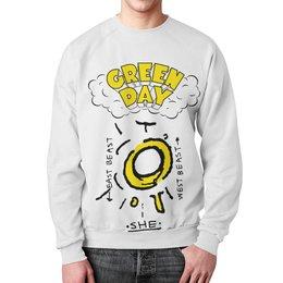 """Свитшот унисекс с полной запечаткой """"Green Day"""" - green day, грин дэй, группы, панк, рок"""