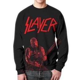 "Свитшот унисекс с полной запечаткой ""Slayer"" - рок, slayer, хэви метал, хардрок, слейер"