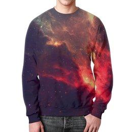 """Свитшот мужской с полной запечаткой """"Our Space"""" - space, звезды, космос, наука, thespaceway"""