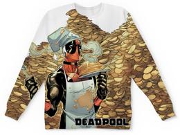 """Свитшот унисекс с полной запечаткой """"Дэдпул (Deadpool)"""" - marvel, deadpool, дэдпул, wade wilson, блинчики"""