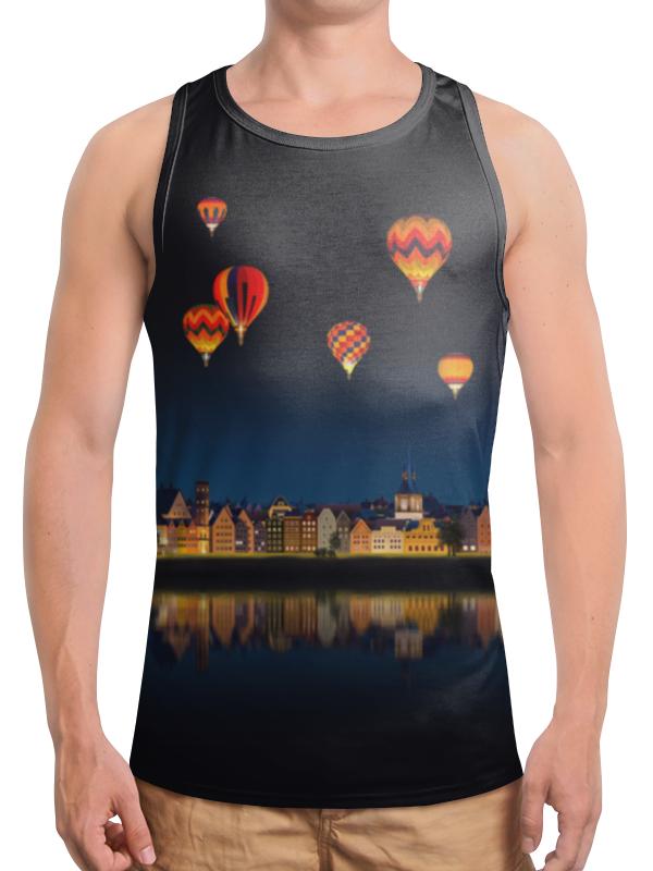 Борцовка с полной запечаткой Printio Ночной городок футболка с полной запечаткой женская printio разноцветные воздушные шары