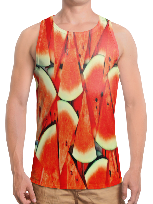 Борцовка с полной запечаткой Printio Сочный арбуз рубашка поло с полной запечаткой printio сочный арбуз