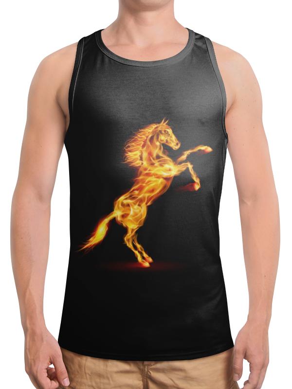 Борцовка с полной запечаткой Printio Огненная лошадь футболка с полной запечаткой мужская printio огненная лошадь