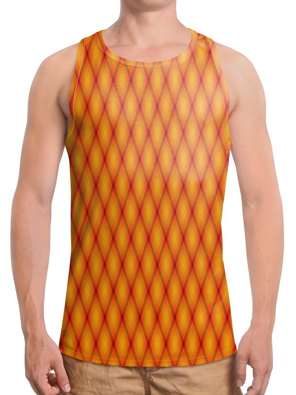 Борцовка с полной запечаткой Printio Клетка оранжевая облепиха оранжевая сила муж 1 жен 1