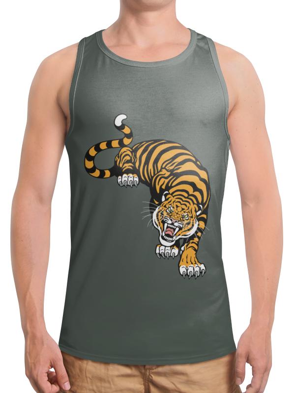 Борцовка с полной запечаткой Printio Свирепый тигр подушка 60х40 с полной запечаткой printio свирепый тигр