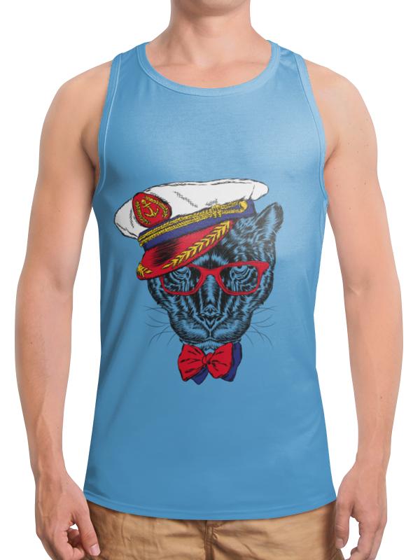Борцовка с полной запечаткой Printio Кот - мореход рубашка поло printio кот мореход