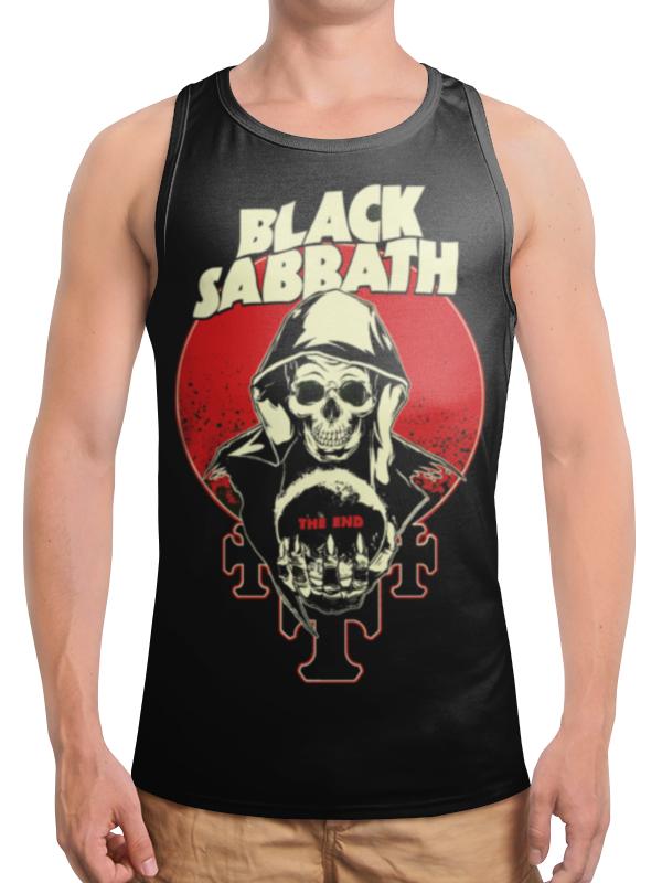 Борцовка с полной запечаткой Printio Black sabbath майка борцовка print bar рок идолы