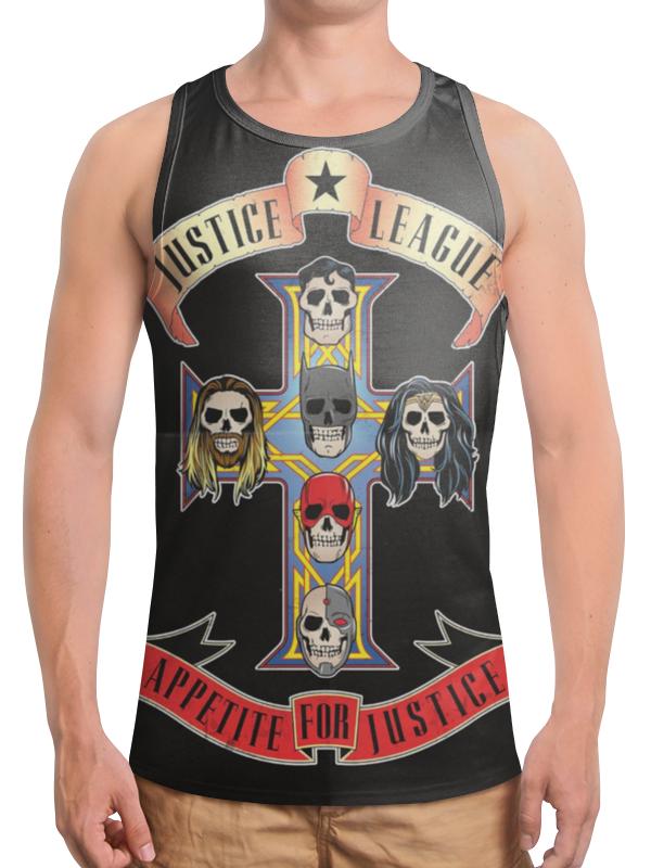 Борцовка с полной запечаткой Printio Лига справедливости / justice league