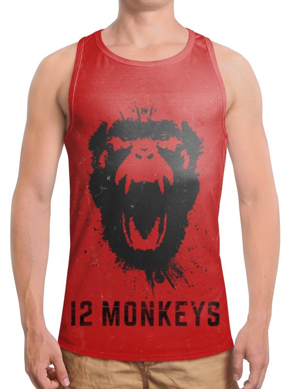 Борцовка с полной запечаткой Printio 12 обезьян /  monkeys