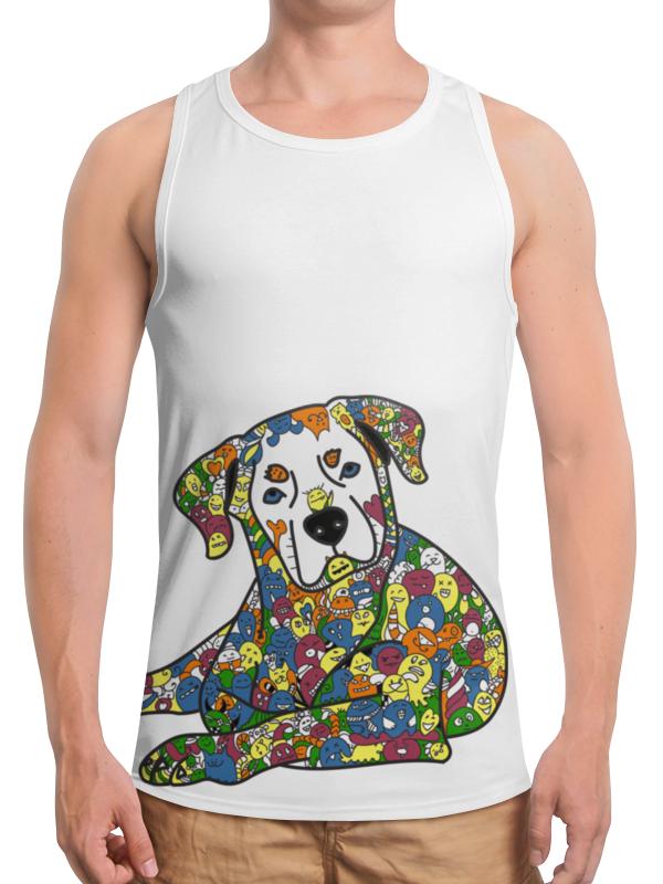 Борцовка с полной запечаткой Printio Собака из дудл монстров рубашка поло с полной запечаткой printio собака из дудл монстров