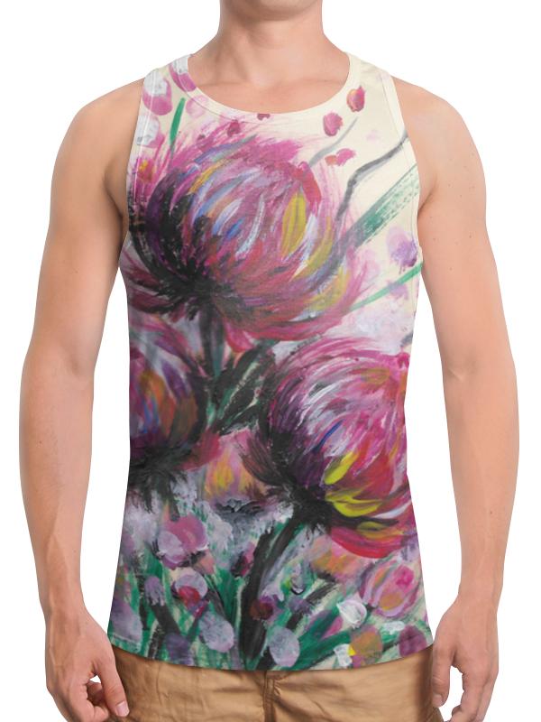 Борцока с полной запечаткой Printio Розоые хризантемы