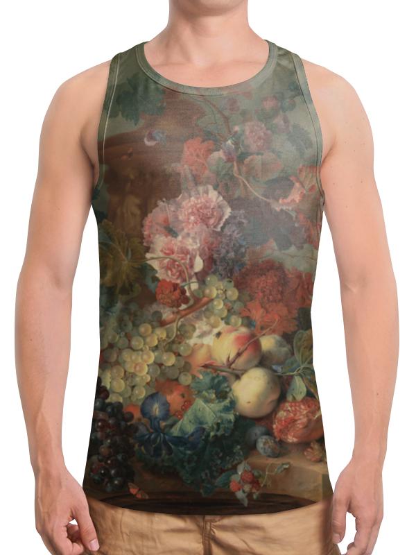 Борцовка с полной запечаткой Printio Цветы (ян ван хёйсум) фартук с полной запечаткой printio цветы ян ван хёйсум
