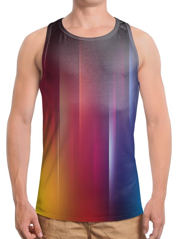 Борцовка с полной запечаткой Printio Переход цвета рубашка поло с полной запечаткой printio переход цвета