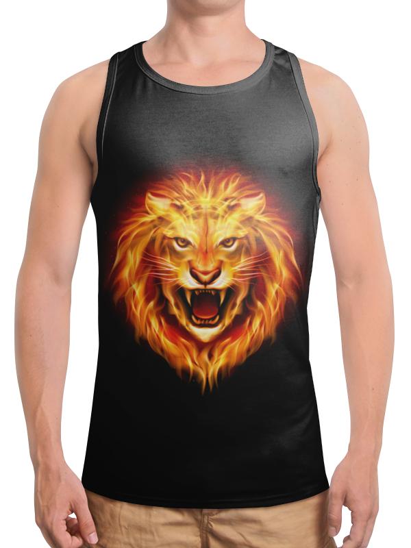 Борцовка с полной запечаткой Printio Огненный лев