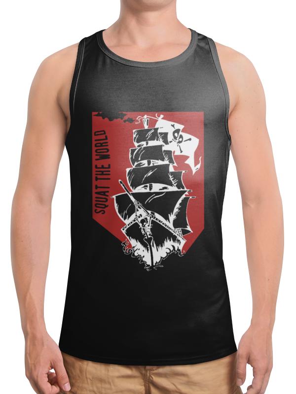 Борцовка с полной запечаткой Printio Пиратский корабль elc корабль пластик пиратский