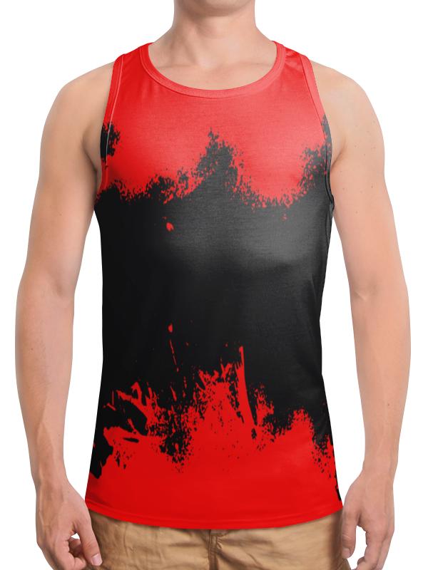Борцовка с полной запечаткой Printio Черно-красные краски цена