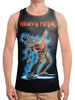 "Борцовка с полной запечаткой ""Heavy Metal"" - музыка, skull, череп, гитара, heavy metal"