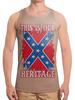 "Борцовка с полной запечаткой ""Флаг Конфедерации США"" - война, америка, флаг, сша, флаг конфедерации"
