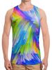 "Борцовка с полной запечаткой ""Abstract Rainbow"" - радуга, цвета, краски, абстракция"