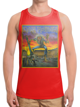 """Борцовка с полной запечаткой (Мужская) """"Iron Maiden Band"""" - heavy metal, рок музыка, рок группа, iron maiden, eddy"""