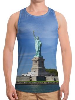"""Борцовка с полной запечаткой """"Статуя Свободы"""" - нью-йорк, америка, статуя свободы"""