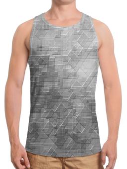 """Борцовка с полной запечаткой """"Пиксель-арт. Черно-белый паттерн"""" - узор, оригинальный, куб, паттерн, геометрический"""