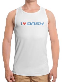 """Борцовка с полной запечаткой """"I love dash"""" - dash, bitcoin, криптовалюта, etherium, даш"""