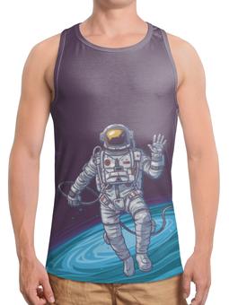 """Борцовка с полной запечаткой """"The Spaceway Travel"""" - звезды, космос, футболка космос, одежда космос"""