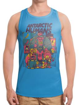"""Борцовка с полной запечаткой (Мужская) """"Antarctic Humans"""" - обезьяна, рок музыка, рок группа, арт прикол, antarctic monkeys"""