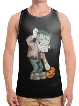 """Борцовка с полной запечаткой """"Чудовище Франкенштейна"""" - монстр, франкенштейн, хэллоуин, тыква, зомби"""