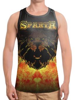 """Борцовка с полной запечаткой (Мужская) """"СПАРТА!!!"""" - лев, lion, спарта, спартанец, spartan"""
