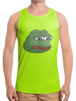 """Борцовка с полной запечаткой """"Грустная лягушка"""" - мем, meme, грустная лягушка, sad frog, pepe frog"""