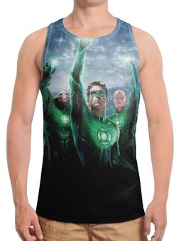 """Борцовка с полной запечаткой """"Зелёный Фонарь / Green Lantern"""" - рисунок, комиксы, кино"""