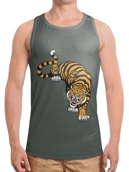 """Борцовка с полной запечаткой """"Свирепый тигр"""" - тигр, животное"""